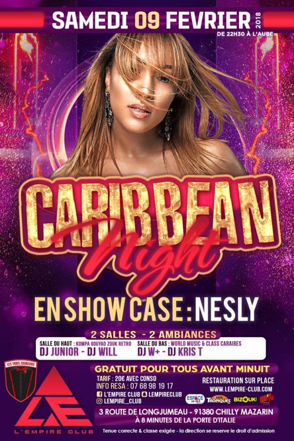 Caribbean Night en show case avec Nesly et les Taxis Zoukeurs.